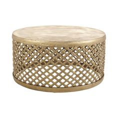Jayson Home Bamileke Brass Coffee Table ($1,695) ❤ liked on Polyvore featuring home, furniture, tables, accent tables, hand carved furniture, brass accent table, brass table, brass furniture and lightweight furniture