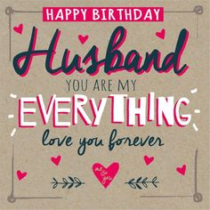 Image result for happy birthday husband card