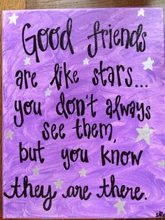 Good Friends are Like Stars | Quote Canvas by TheRedheadedCamel, $16.00