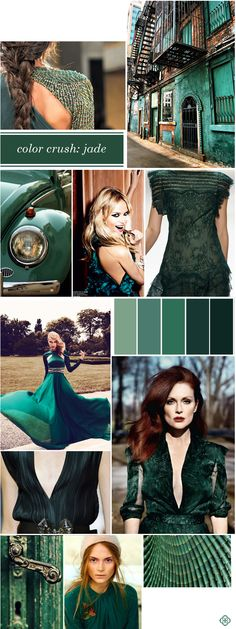 Color Crush: Jubilant Jade My favorite color to wear Colour Schemes, Color Trends, Color Patterns, Color Combinations, Looks Total Jeans, Colour Board, Color Stories, Fashion Colours, Pantone Color