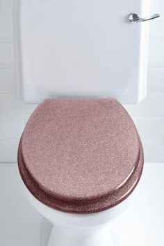 Buy Glitter Toilet Seat from the Next UK online shop Rose Gold Room Decor, Rose Gold Rooms, Gold Bedroom Decor, Glitter Bathroom, Gold Bathroom, Bathroom Ideas, Glitter Toilet Seat, Large Baths, Glam Room