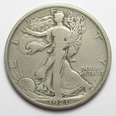 Tough Date 1921 Silver Walking Liberty Half Dollar http://www.propertyroom.com/l/l/9704467