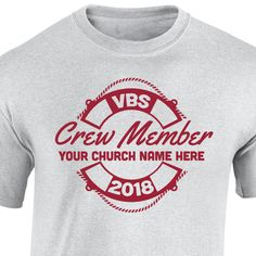 Splash Canyon VBS crew shirts will help your team stand out during VBS!