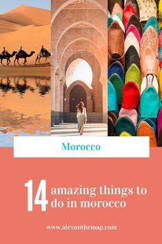 Heading to Morocco and you're not sure what to do? This list has everything you need in order to make your trip there amazing from the Sahara desert to the medina in Fes. Don't miss any of these awesome activities from Rabat to Marrakech! #morocco #africa #wanderlust