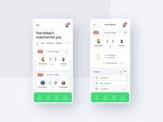 ScoreLive - Mobile App Concept by Matt Wojtaś on Dribbble Garet Bale, Fantasy App, It Matters To Me, Mobile App Design, Mobile Ui, Web Design Inspiration, Show And Tell, Cool Websites, Behance