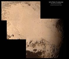 #SputnikPlanum on #Pluto  Assembled and processed from the raw data released a few hours ago. The press conference this afternoon via NASA was among the most fascinating ive seen. Only 5% of the data down and already many remarkable discoveries.
