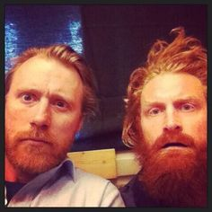 Thorbjørn Harr and Kristofer Hivju