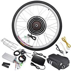 Cycling Biking: 48 Volt 1000 Watt 26 Inch Electric Bicycle Conversion Motor Kit Rear Wheel * Want additional info? Click on the image.
