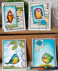 Tim Holtz Crazy Birds from the Painted Poppy Studio