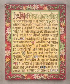 Look at this #zulilyfind! 'Joy of Grandparenting' Gallery-Wrapped Canvas #zulilyfinds