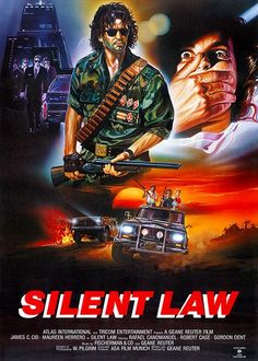 Silent Law poster, t-shirt, mouse pad Action Movie Poster, 80s Movie Posters, 80s Movies, Movie Poster Art, Action Movies, Good Movies, Adventure Movies, American Gods, Fantasy Movies
