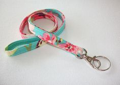 Lanyard  ID Badge Holder  NEW THINNER design  love bliss by Laa766