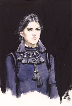 Lanvin #fashionillustration by Diana Kuksa (Nesypova)