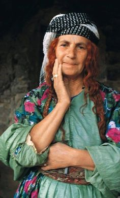 Elderly Yezidi woman. Northern Iraq. Recent picture (2010s).