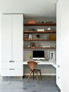 So make sure you design your home office exactly how you want from the perfect colors. See more ideas about Desk, Home office decor and Home Office Ideas. Office Nook, Home Office Space, Small Office, Home Office Design, Home Office Decor, House Design, Home Decor, Office Ideas, Desk Ideas