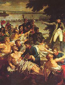 Napoléon sur l'île de Lobau