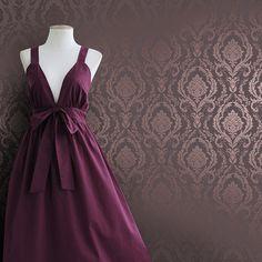 Luxury Purple Damask Texture Nonwove Wallpaper Livingroom/Background/ $39.99