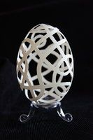 Carved goose eggshell by peregrin71
