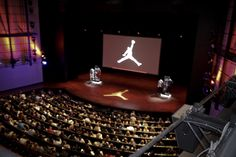 Students pack the auditorium in the Tiger Woods Center for our 4th Annual Jordan Brand Experience event.