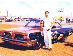 Fireball Roberts with Smokey Yunick's Pontiac in 1961...