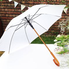 crook handle wedding umbrella