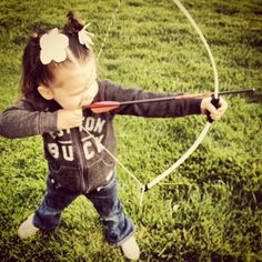 This could be Cam this spring, lol. If she gets her own bow and doesn't have to borrow her brothers. But she may become a fisher-woman, lol.