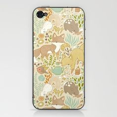Animal's Tea Party iPhone & iPod Skin