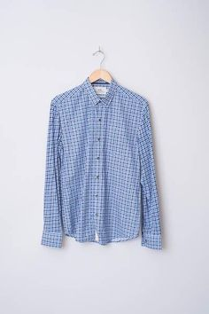 Space Dye Checked Reworked Shirt