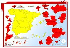 """""""Coloca las Comunidades Autónomas"""", de la Junta de Castilla y León, es un sencillo juego que trata de que los niños se familiaricen con los nombres y situación de las Comunidades Autónomas Españolas. Social Studies, Education, Amazing Things, History, Continents, Dates, Organize, Blog, Spain"""