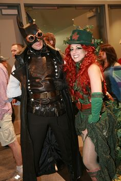 IMG_0875 - Steampunk Batman & Poison Ivy by Anime Nut, via Flickr
