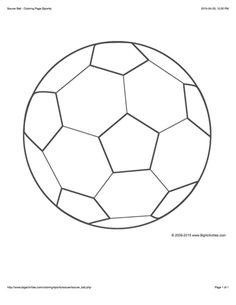 Sports coloring page with a picture of a large soccer ball to color