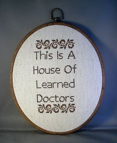 This Is A House Of Learned Doctors by katiekutthroat on Etsy, $45.00