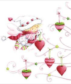 Leading Illustration & Publishing Agency based in London, New York & Marbella. Christmas Images, Christmas Angels, Christmas Art, Vintage Christmas, Illustration Noel, Christmas Illustration, Digi Stamps, Christmas Printables, Xmas Cards