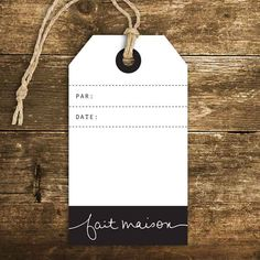 Étiquette - Fait maison (tag) - Le Bar à Idées