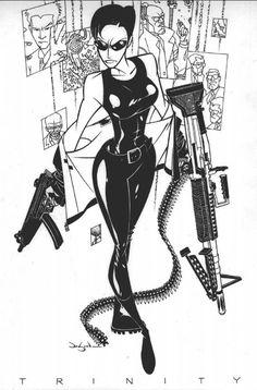 Trinity by Jason Pearson - Matrix Character Design References, Character Art, Geeks, D Mark, Bd Comics, Comic Artist, Comic Books Art, Cool Artwork, Art Reference