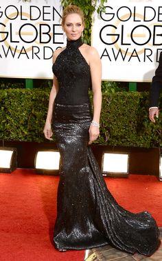 I gave up on Uma years ago .Uma Thurman from 2014 Golden Globes: Red Carpet Arrivals   E! Online  #2014GoldenGlobes #RedCarpet