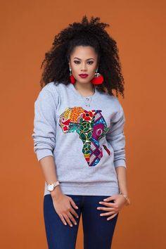 Grey African Map Sweatshirt