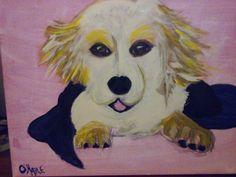 First puppy portrait! My golden Jake! O'HARE ORIGINAL