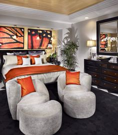 Adding color to a bedroom can make it appear larger.