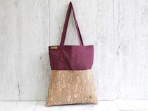 Tote bag - bolso- de corcho y lona hecho a mano en DaWanda.es
