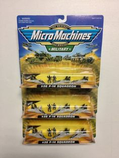 Tanks and Military Vehicles 171138: Micro Machines Lot, Micro Machines Military, Micro Machines F-14 Squadron -> BUY IT NOW ONLY: $104.99 on eBay!