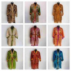 Silk Robe Long, Silk Kimono Robe, Cotton Kimono, Long Kimono, Floral Kimono, Cotton Fabric, Male Kimono, Funky Style, Tie Dye Outfits