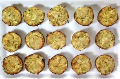 Zucchini Tots - only 27 calories each!