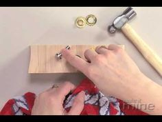 Setting Grommets with a Hammer