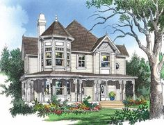 Eplans Queen Anne House Plan - Kitchen Opens to a Sun Room - 2350 Square Feet and 3 Bedrooms from Eplans - House Plan Code HWEPL07119