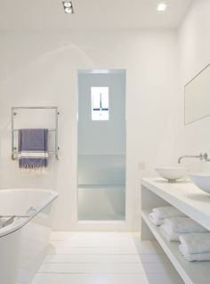 minimalist + white bathroom