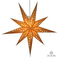 Sunlight Gold Hanging star lanterns http://www.29june.com/index.php/paper-stars/sunlight-gold.html