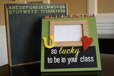 adorable picture frame gift for teacher! From Yesterday on Tuesday. #gift #teacher