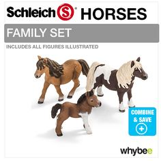 schleich family horse   about SCHLEICH TOY STABLE 42110 COMPLETE WITH CHOICE OF HORSE FAMILY ...