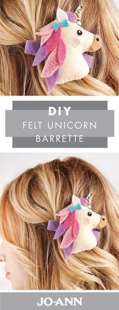 Make your little girl the hair accessory of her fairy tale dreams with this DIY Felt Unicorn Barrette project idea from Jo-Ann! We love the idea of making these magical clips for your daughter and all her friends at her birthday party.